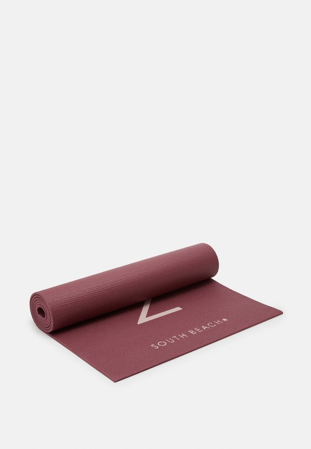 YOGA MATT WITH NAMASTE SLOGAN - Fitness/yoga - dark red
