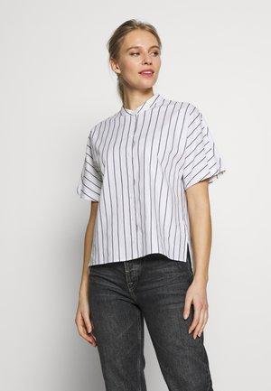 FASHION - Button-down blouse - white7navy