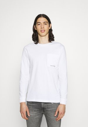 MICRO BRANDING POCKET TEE - Long sleeved top - white
