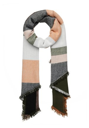 Scarf - white/dark green