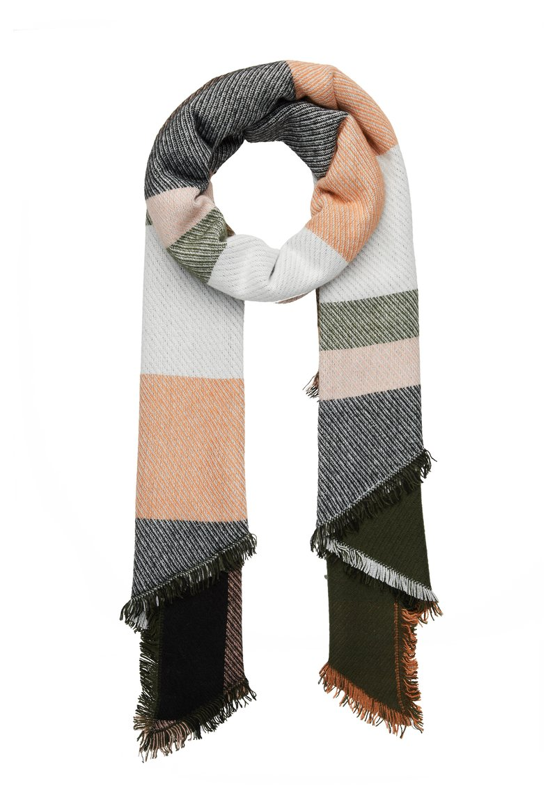 Even&Odd - Scarf - white/dark green