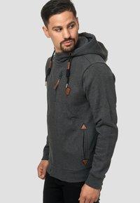 INDICODE JEANS - ELM - Zip-up hoodie - charcoal - 3