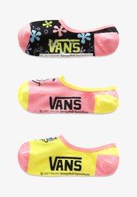 Vans - WM VANS X SPONGEBOB CANOODLES (6.5-10, 3PK) - Socks - pink/yellow - 0