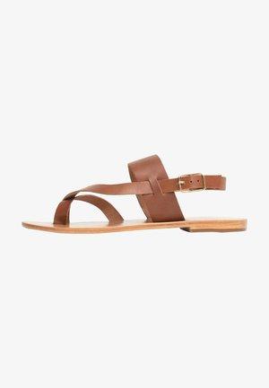 TALLULAH - T-bar sandals - tan