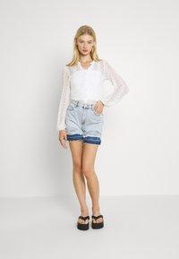 Vila - Button-down blouse - cloud dancer - 1