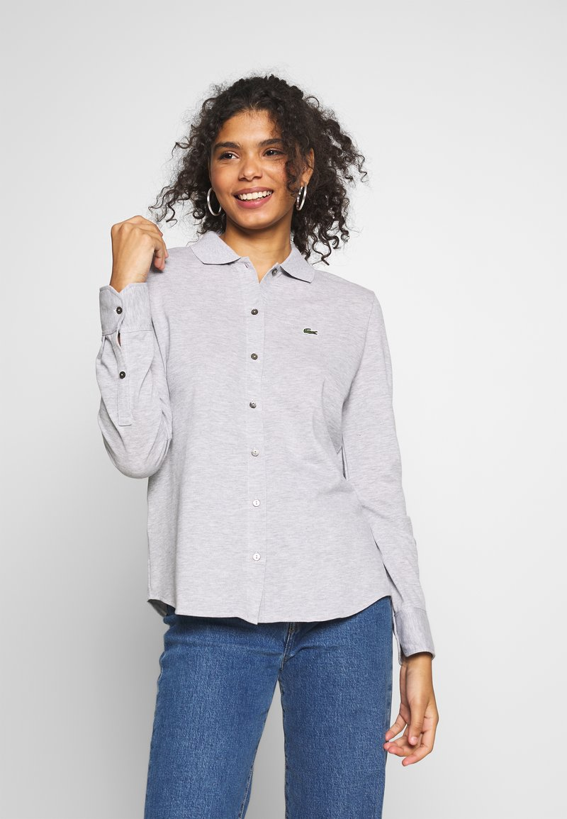Lacoste - Button-down blouse - silver chine