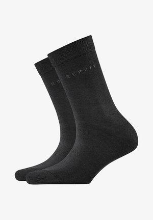BASIC EASY 2-PACK - Socks - black