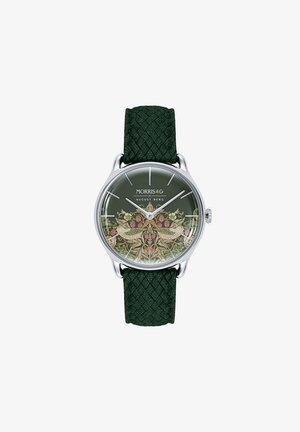 UHR MORRIS & CO SILVER GREEN PERLON 30MM - Horloge - fennel