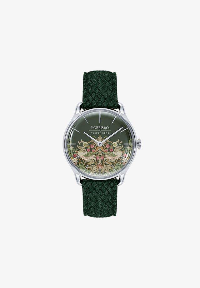 UHR MORRIS & CO SILVER GREEN PERLON 30MM - Orologio - fennel