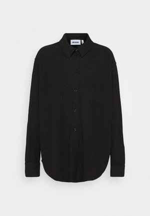 EDYN TOWELLING - Button-down blouse - black
