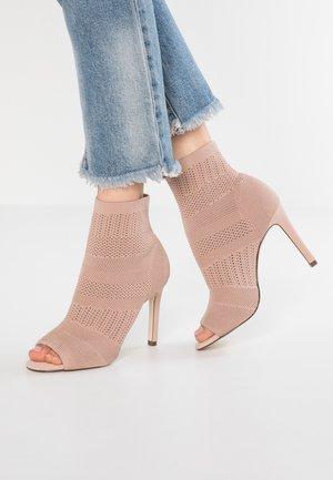 BRAVA - High heeled ankle boots - medium pink