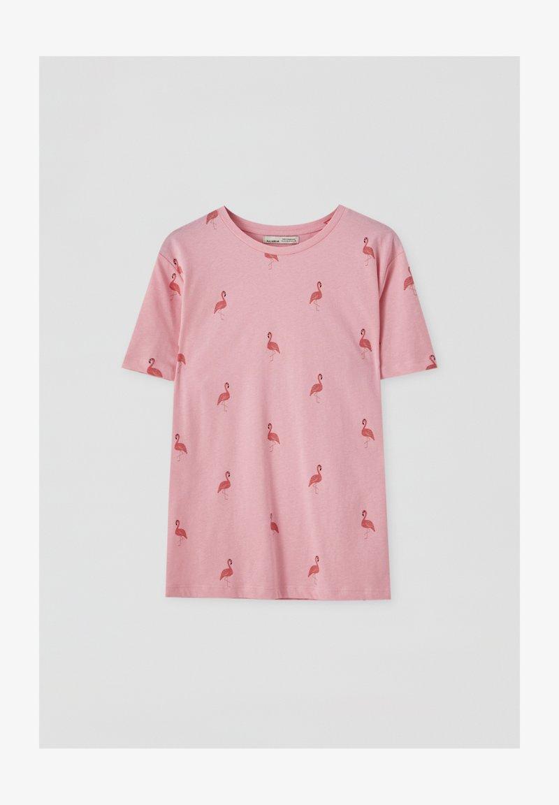 PULL&BEAR - Print T-shirt - rose