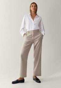 Massimo Dutti - Pantalon classique - beige - 4