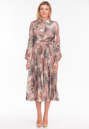 Vestido camisero - flower print