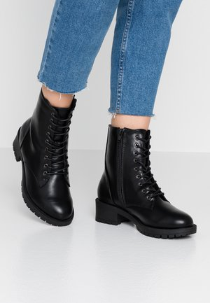WIDE FIT BIACLAIRE CRYSTAL BOOT - Snørestøvletter - black