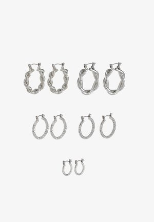 ONLCRISTEL CREOLE EARRINGS 5 PACK - Earrings - silver-coloured
