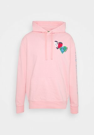 LUV THE WORLD HOODIE - Sweatshirt - iced rose