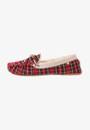 LOWMOC CHECK - Domácí obuv - classic red