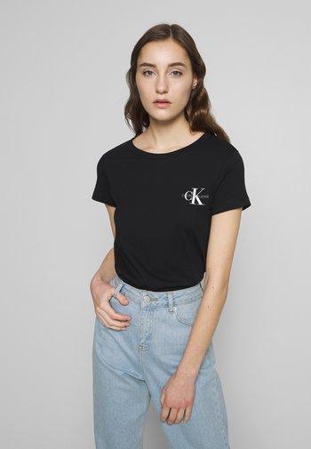 SLIM 2 PACK - Print T-shirt - black