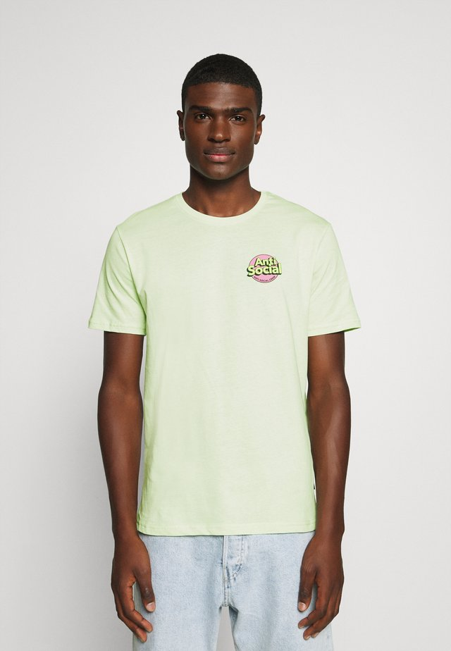 UNISEX ANTI SOCIA - T-shirt med print - light green