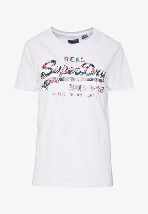 GLOSS FLORAL ENTRY TEE - T-shirt imprimé - white