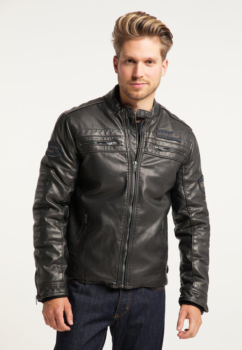 Petrol Industries - BIKERJACKE - Leather jacket - black