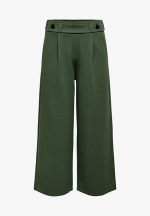 JDYGEGGO NEW ANCLE PANTS - Trousers - forest night/black buttons