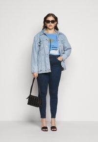 Vero Moda Curve - VMLOA - Skinny džíny - dark blue denim - 1