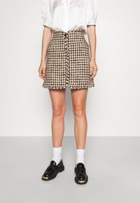 sandro - Mini skirt - marron beige - 0