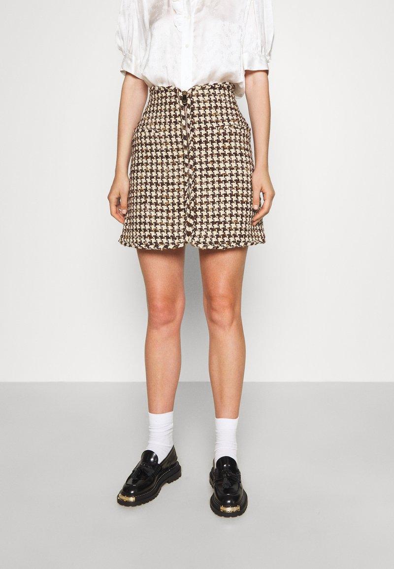 sandro - Mini skirt - marron beige