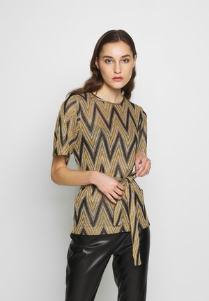 URSA - T-shirt z nadrukiem - yellow/brown
