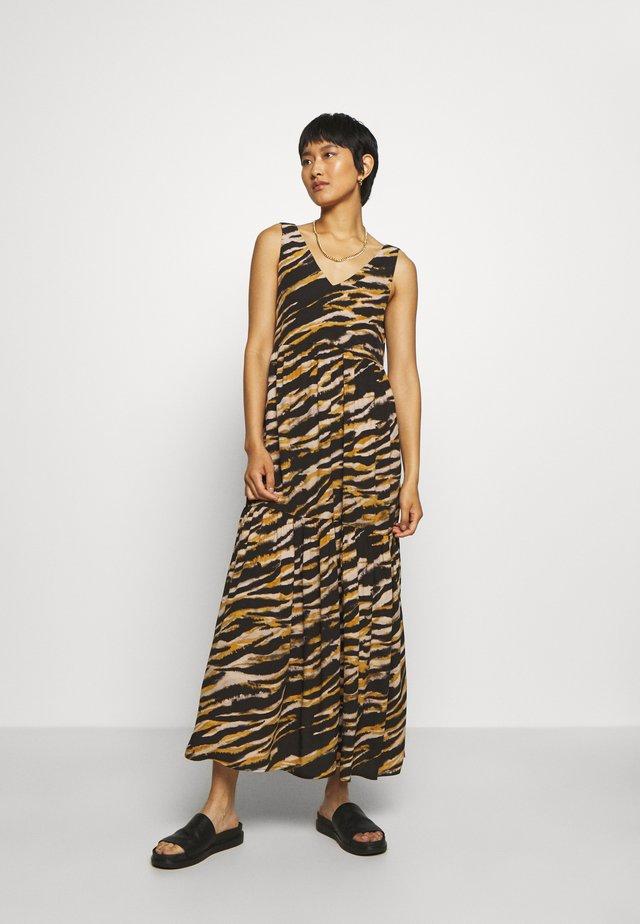 TIA DRESS - Day dress - black/yellow/white