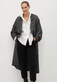 Mango - BONE - Classic coat - schwarz - 0