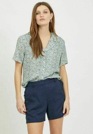 Button-down blouse - black/taupe