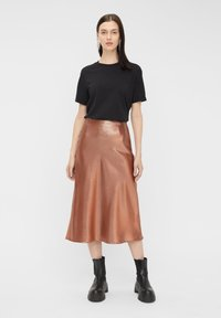 Pieces - Pleated skirt - root beer - 1