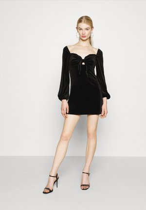 LONG SLEEVE MINI DRESS - Cocktail dress / Party dress - black