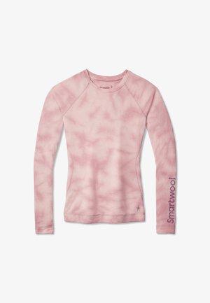 MIDWEIGHT 250 BASELAYER PLANT-BASED DYE LOGO CREW - Långärmad tröja - pink