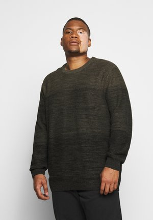 JJEGRAHAM CREW NECK - Trui - olive night