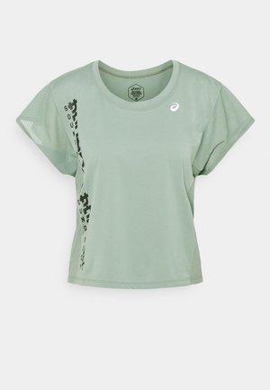 RUN - Print T-shirt - slate grey/graphite grey