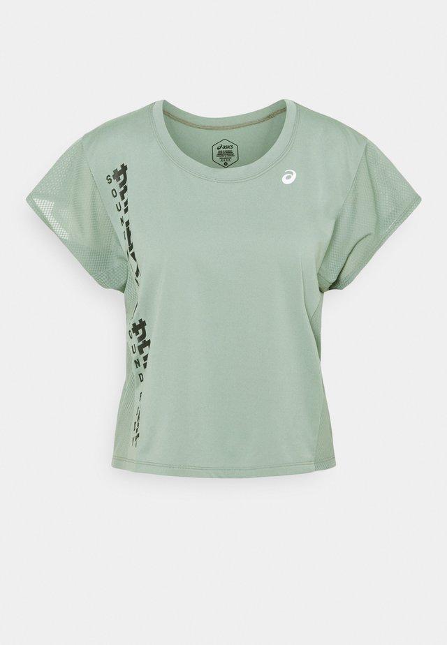 RUN - Camiseta estampada - slate grey/graphite grey