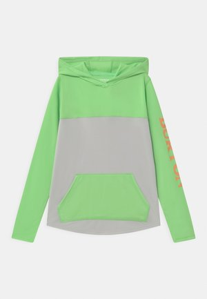 SPURWAY TECH HOODIE UNISEX - Long sleeved top - summer green/lunar gray