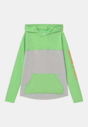 SPURWAY TECH HOODIE UNISEX - Top sdlouhým rukávem - summer green/lunar gray