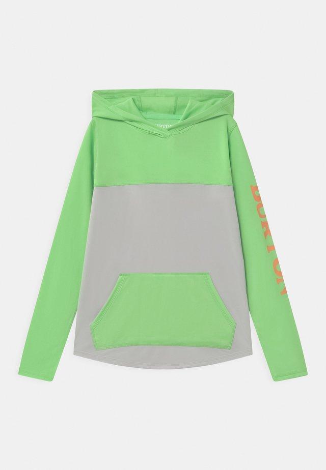 SPURWAY TECH HOODIE UNISEX - T-shirt à manches longues - summer green/lunar gray