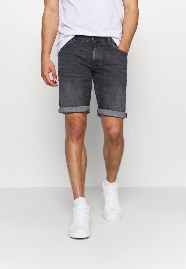 Denim shorts - grey/black