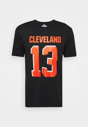 NFL CLEVELAND BROWNS ICONIC NAME & NUMBER GRAPHIC ODELL - Klubové oblečení - black