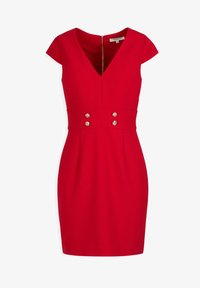 Morgan - WITH DECORATIVE BUTTONS - Shift dress - red - 3