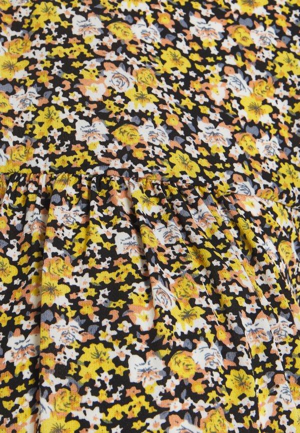 Pieces Maternity PCMRIMBLA - Bluzka - black/yellow/czarny LOJL