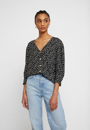 WILMA BLOUSE - Bluser - black and white