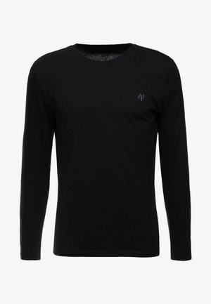 LONG SLEEVE ROUND NECK - Långärmad tröja - black