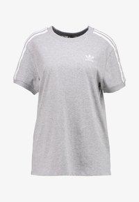 adidas Originals - STRIPES TEE - Print T-shirt - medium grey heather - 4